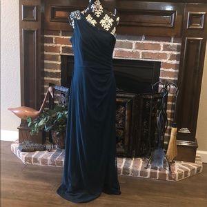 Alex Evenings One-Shoulder Empire Waist Gown